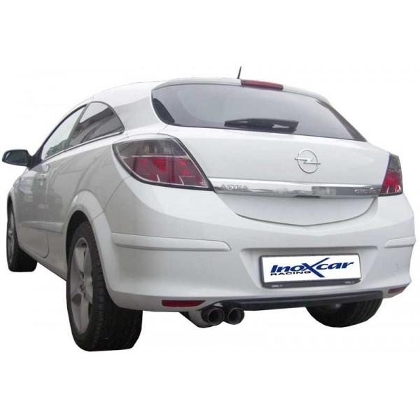 Opel Astra H GTC 07- Volledig RVS einddemper Ø2x70mm