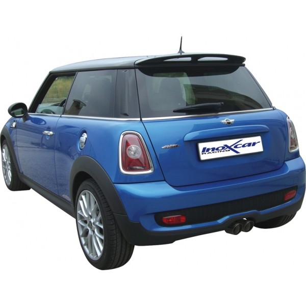 New Mini Cooper S 11 / 06- Volledig RVS einddemper Ø2x80mm Racin