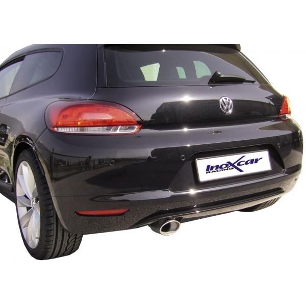 VW Scirrocco 2.0(200pk) 10/08- Volledig RVS einddemper Ø120x80mm